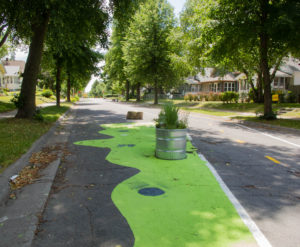 North Minneapolis temporary greenway